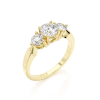 Ring Diamond F/VS1, Gold 14K - Style 3-Stone, Collection Classic