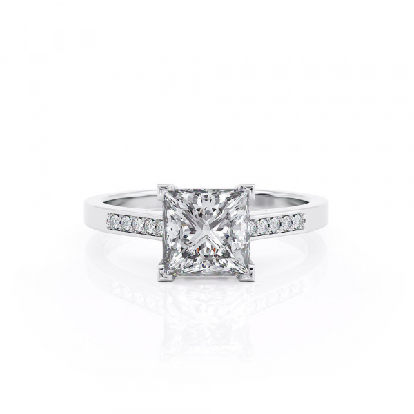 Ring Diamond F/VS1, Gold 14K - Style With Accents, Collection Classic