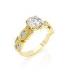 Ring Diamond F/VS1, Gold 14K - Style With Accents, Collection Vintage