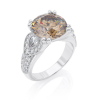 Ring Diamond F/VS1, Gold 18K - Style With Accents, Collection Vintage